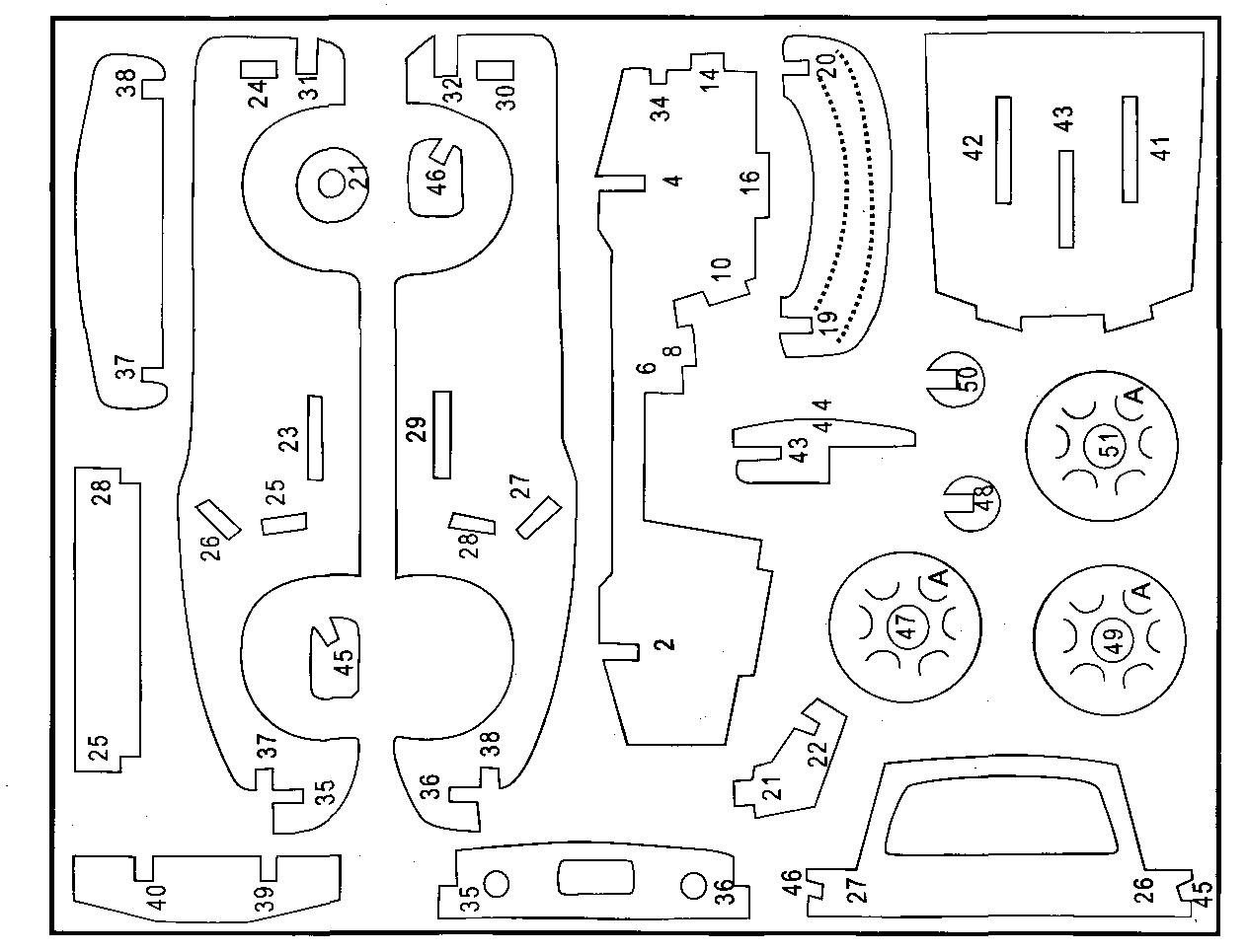 Поделки лобзиком схема