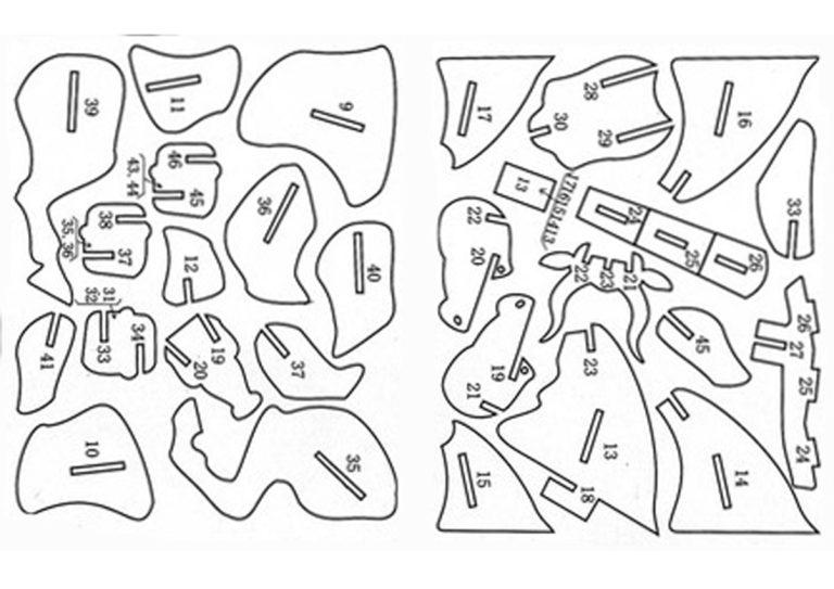Объёмные поделки из фанеры чертежи 87