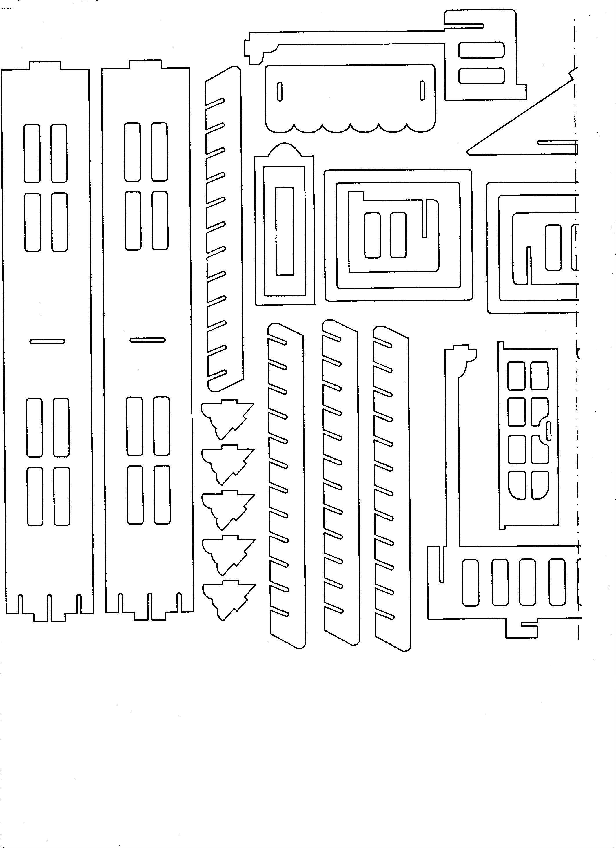 Chertezh podelki «Goticheskij dom»01