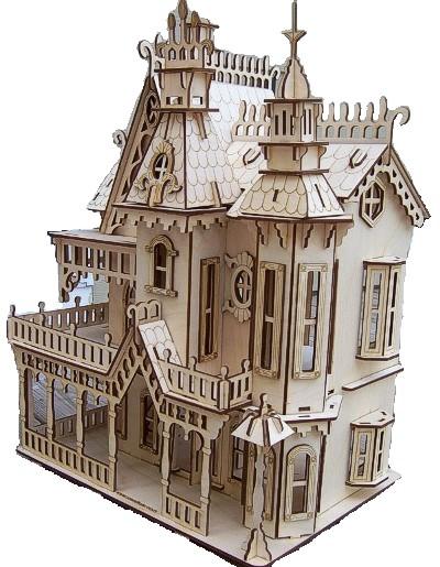 Chertezh podelki «Viktorianskij dom»