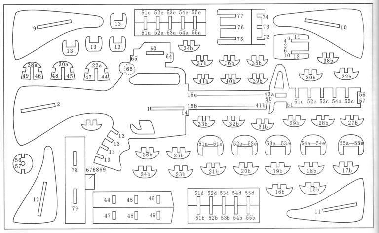 Объёмные поделки из фанеры чертежи 90