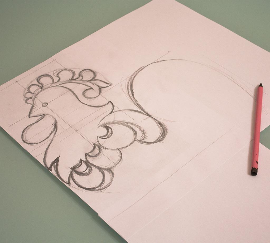 рисунок петуха