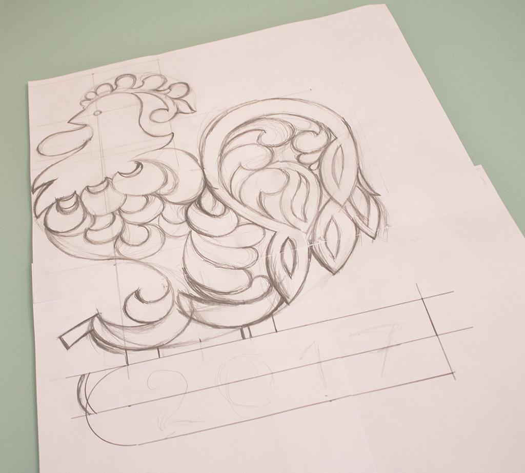 чертежи петуха