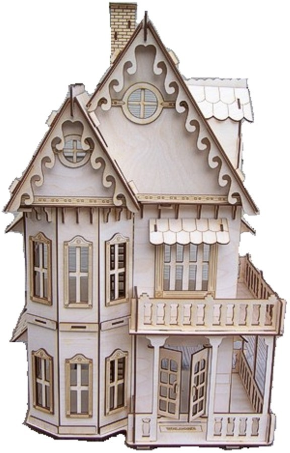 Chertezh podelki «Goticheskij dom»