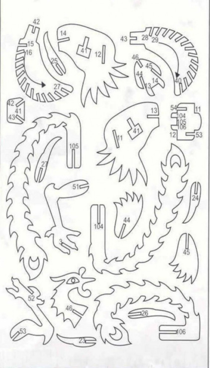 Chertezh podelki Drakon i ptica2
