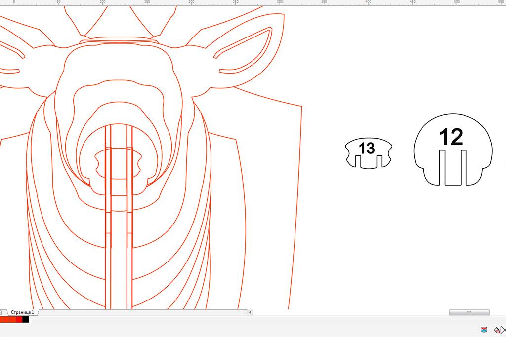 купить чертеж голова оленя