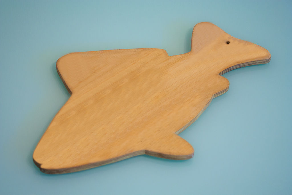 разделочная доска в форме рыбы